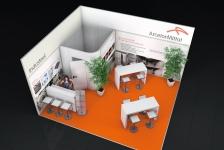 Rendering ArcelorMittal Messestand zur Euroguss 2016